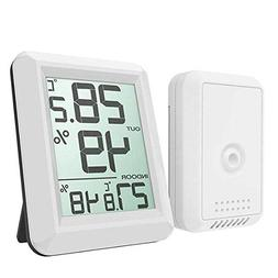 Weather Thermometer Indoor,MeiLiio Digital LCD Wireless Weat