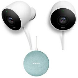 Nest Wired Outdoor Security Standard Surveilance 2 Pack + Sp