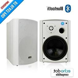 "Wireless Outdoor Speakers 6.50"" White, Bluetooth indoor/Outd"